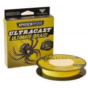 "Леска плетенка ""SPIDERWIRE"" Ultracast 8 Carrier Yellow 0.25мм 110м 1278825"